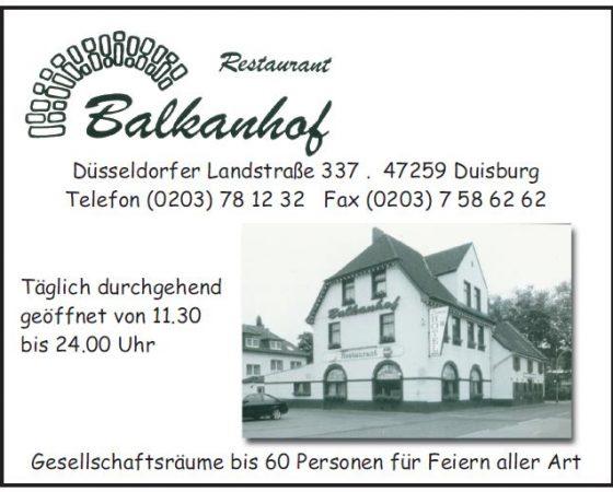 Balkanhof – Restaurant